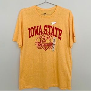 adidas Iowa State Wrestling Champs Tee Size Large
